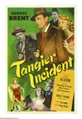 "Movie Posters:Thriller, Tangier Incident (Allied Artists, 1953). One Sheet (27"" X 41"").George Brent stars as an American agent who goes undercover ..."