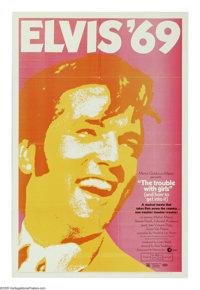 """The Trouble With Girls (MGM, 1969). One Sheet (27"""" X 41""""). One of Elvis Presley's later efforts before becomin..."""