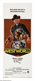 "Movie Posters:Science Fiction, Westworld (MGM, 1973). Insert (14"" X 36""). Yul Brynner, RichardBenjamin and James Brolin star in this science fiction thril..."
