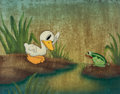 Animation Art:Production Cel, The Ugly Duckling Production Cel Courvoisier Setup (WaltDisney, 1939). ...