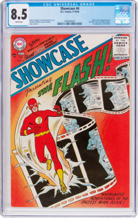 Showcase #4 The Flash (DC, 1956) CGC VF+ 8.5 White pages