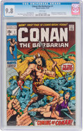 Bronze Age (1970-1979):Adventure, Conan the Barbarian #1 (Marvel, 1970) CGC NM/MT 9.8 White pages....