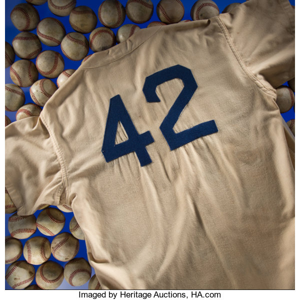 size 40 56415 3af6c 1947 Jackie Robinson Game Worn Brooklyn Dodgers Rookie ...
