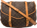 "Luxury Accessories:Bags, Louis Vuitton Classic Monogram Canvas Saumur 43 Bag. Condition:4. 15"" Width x 13"" Height x 10"" Depth. ..."