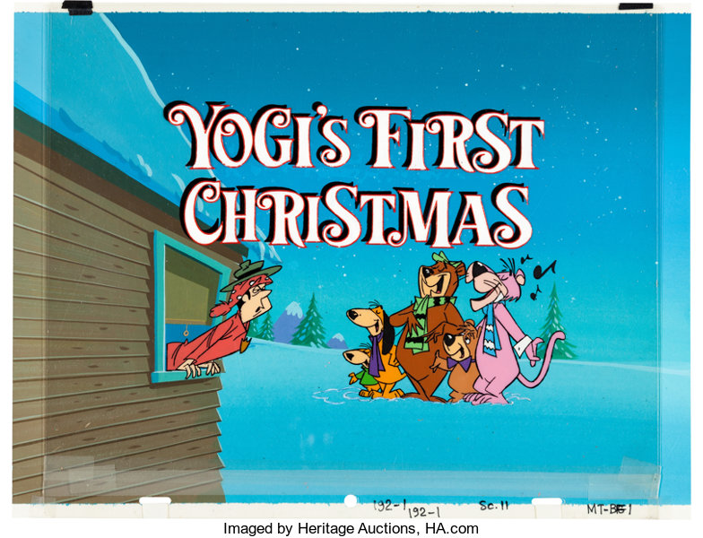 Yogis First Christmas.Yogi S First Christmas Title Cel Setup With Key Master
