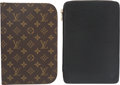 """Luxury Accessories:Accessories, Louis Vuitton Set of Two; Black Epi Leather & Monogram Coated Canvas Zip Agenda Covers. Condition: 4. 6.5"""" Width x 9.5... (Total: 2 Items)"""