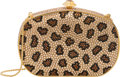 "Luxury Accessories:Bags, Judith Leiber Full Bead Leopard Crystal Oval Minaudiere EveningBag. Condition: 2. 5.5"" Width x 3.5"" Height x 1.5""Dep..."