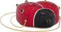 "Luxury Accessories:Bags, Judith Leiber Full Bead Red & Black Crystal Ladybug MinaudiereEvening Bag. Condition: 2. 4"" Width x 5"" Height x 2""De..."