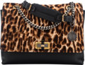 "Luxury Accessories:Bags, Lanvin Leopard Ponyhair & Black Leather Shoulder Bag.Condition: 2. 11"" Width x 9"" Height x 4"" Depth. ..."