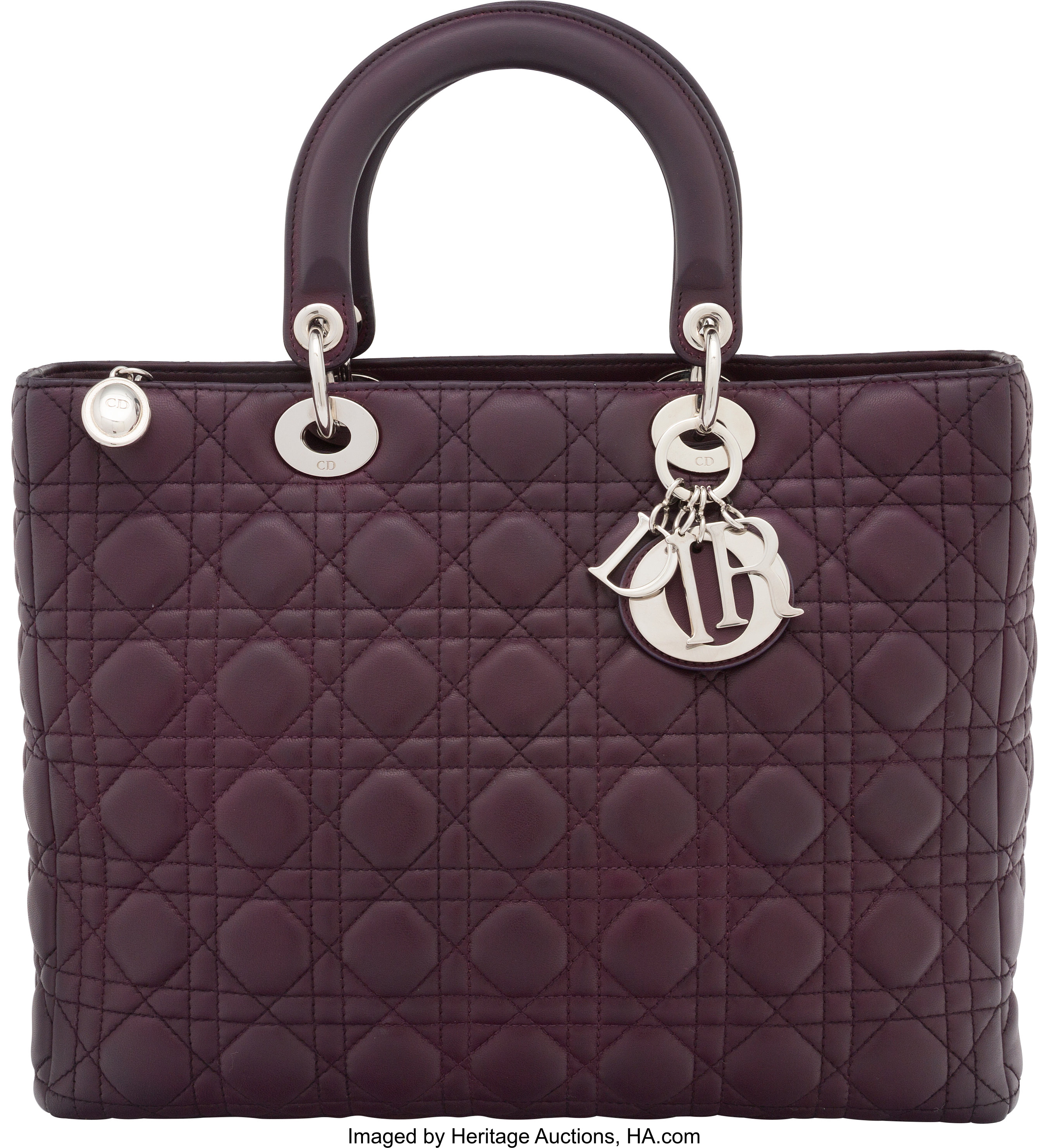 ff76a36550 Christian Dior Purple Cannage Quilted Lambskin Leather Large Lady | Lot  #58321 | Heritage Auctions