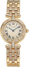 Estate Jewelry:Watches, Cartier Lady's Diamond, Gold Panthere Vendome Watch. ...