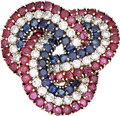 Estate Jewelry:Brooches - Pins, Diamond, Ruby, Sapphire, Gold Brooch, Tiffany & Co.. ...
