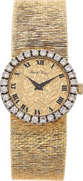 Estate Jewelry:Watches, Bueche Girod Lady's Diamond, Gold Watch, Swiss. ...