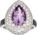 Estate Jewelry:Rings, Amethyst, Diamond, Sapphire, White Gold Ring. ...