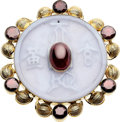 Estate Jewelry:Brooches - Pins, Garnet, Agate, Gold Brooch, Harry Fireside. ...