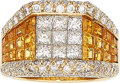 Estate Jewelry:Rings, Diamond, Yellow Sapphire, Gold Ring . ...
