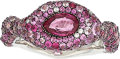Estate Jewelry:Rings, Ruby, Pink Sapphire, Diamond, White Gold Ring. ...