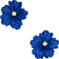 Estate Jewelry:Earrings, Lapis Lazuli, Diamond, Gold Earrings, Paloma Picasso for Tiffany & Co.. ...