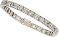 Estate Jewelry:Bracelets, Art Deco Diamond, Platinum Bracelet, French. ...