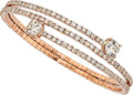 Estate Jewelry:Bracelets, Diamond, Rose Gold Bracelet . ...