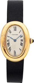 Estate Jewelry:Watches, Cartier Lady's Gold Baignoire Watch, French. ...