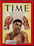 """Boxing Collectibles:Autographs, 1963 Cassius Clay (Muhammad Ali) Signed """"Time"""" Magazine...."""