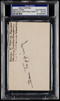 Autographs:Index Cards, Dan Topping Signed Index Card PSA/DNA Certified....