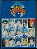Autographs:Others, Signed 1986 All-Star Game Program (15 Signatures) - DiMaggio,Williams, Mantle, Aaron, Koufax & More....