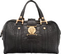 "Luxury Accessories:Bags, Gucci Matte Black Alligator Hysteria Duffle Bag. Condition:3. 16"" Width x 10"" Height x 7"" Width. ..."