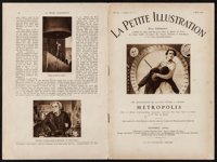 "Metropolis in La Petite Illustration (1928) French Magazine (12 Pages, 8"" X 11.75""). Science Fiction"