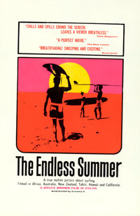 "The Endless Summer (Cinema 5, 1966). Silk Screen One Sheet (27"" X 41""). John Van Hamersveld Artwork"