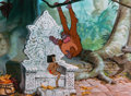 Animation Art:Production Cel, The Jungle Book King Louie Production Cel (Walt Disney,1967). ...