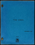 "Movie Posters:Horror, The Omen (20th Century Fox, 1975). Script (Multiple Pages, 8.5"" X 11"") & Program (6.5"" X 8.5""). Horror.. ... (Total: 2 Items)"