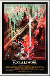 """Excalibur & Others Lot (Warner Brothers, 1981). One Sheet (27"""" X 41""""), Deluxe Lobby Cards (5), Lobby Cards..."""