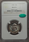 Washington Quarters, 1958 25C MS67+ NGC. CAC. NGC Census: (581/1 and 3/0+). PCGSPopulation: (305/0 and 5/0+). CDN: $65 Whsle. Bid for problem-f...