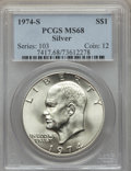 Eisenhower Dollars, 1974-S $1 Silver MS68 PCGS. PCGS Population: (1206/3). NGC Census: (218/1). Mintage 1,900,156....