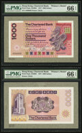 World Currency, Hong Kong The Chartered Bank $1000 1.4.1977 Pick 81pm Face and BackPrinter's Models.. ... (Total: 2 notes)