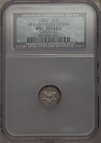 1860 3CS -- Cleaned -- NCS. UNC Details. Ex: Jules Reiver Collection. NGC Census: (3/215). PCGS Population: (14/251). CD...