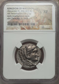 Ancients:Greek, Ancients: MACEDONIAN KINGDOM. Alexander III the Great (336-323 BC).AR tetradrachm (16.73 gm). NGC XF....