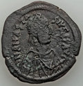 Ancients:Byzantine, Ancients: Anastasius I (AD 491-518). AE follis (17.68 gm). AboutVF. ...