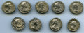 Ancients:Ancient Lots , Ancients: GROUP LOTS. Roman Imperial. Lot of nine (9) Faustina II(AD 147-175/6) AR denarii. Fine-VF.... (Total: 9 coins)
