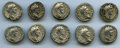 Ancients:Ancient Lots , Ancients: GROUP LOTS. Roman Imperial. Lot of ten (10) AntoninusPius (AD 138-161) AR denarii. Fine-Choice VF.... (Total: 10 coins)