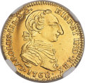 Colombia, Colombia: Charles III gold 2 Escudos 1768 NR-JV MS63+ NGC,...