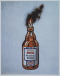 Fine Art - Work on Paper:Print, Banksy (b. 1974). Tesco Value Petrol Bomb (poster), 2011.Offset lithograph in colors on satin white paper. 19-5/8 x 15-...