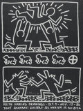 Fine Art - Work on Paper:Print, After Keith Haring. Keith Haring Drawings, exhibitionposter, 1982. Offset lithograph on paper. 24 x 18 inches (61.0 x4...