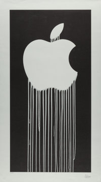 Zevs (b. 1977) Liquidated Apple, 2011 Lithograph on paper 35-1/2 x 19-3/4 inches (90.2 x 50.2 cm)