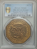 Expositions and Fairs, 1915 Panama-Pacific Exposition Imitation Slug, C.G. BrinkerObverse, Octagonal Dollar, HK-424, MS62 PCGS. ...