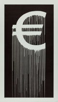 Prints & Multiples, Zevs (b. 1977). Liquidated Euro, 2016. Lithograph on paper. 46 x 26-1/4 inches (116.8 x 66.7 cm) (sheet). Ed. 22/30. Sig...