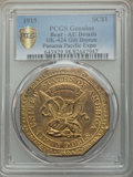 Expositions and Fairs, 1915 Panama-Pacific Exposition Imitation Slug, C.G. Brinker Obverse, Octagonal Dollar, HK-424, -- Bent -- PCGS Genuine. AU Det...