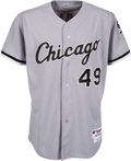 "Baseball Collectibles:Uniforms, 2011 Chris Sale Game Worn Chicago White Sox Jersey Purchased from Team with Photo of Signing & ""Game Used 2011"" Inscription. ..."
